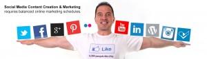 balanced social media marketing schedule