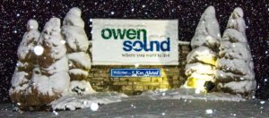 City of Owen Sound sign
