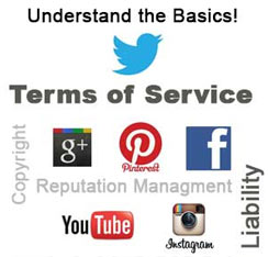 learn about social media network terms of service