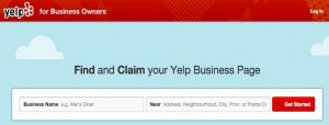 Yelp register my business page