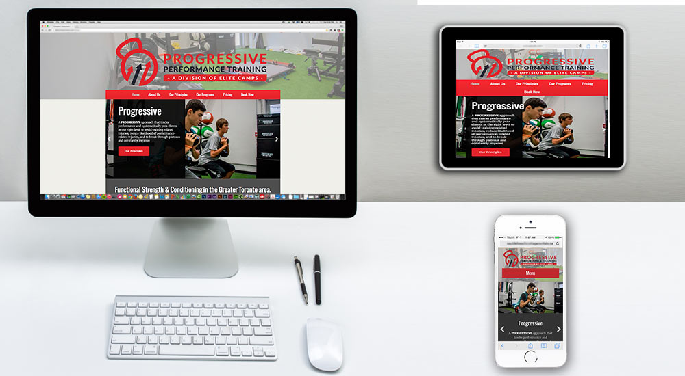 fitness gym web design ontario