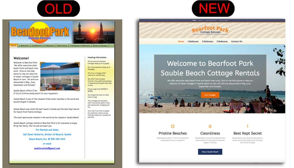 ontario cottage directory web design