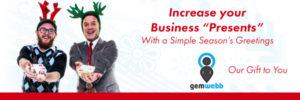 Web company happy holidays