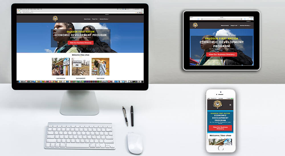 first nation web design