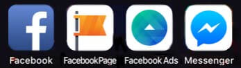 facebook apps icons