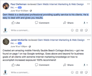 Client Reviews June 2018