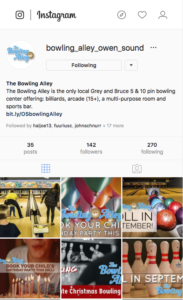 bowling alley instgram
