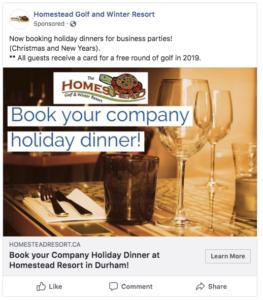 Facebook Ad example 1