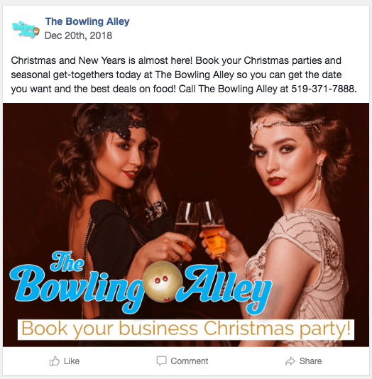 book your christmas party post