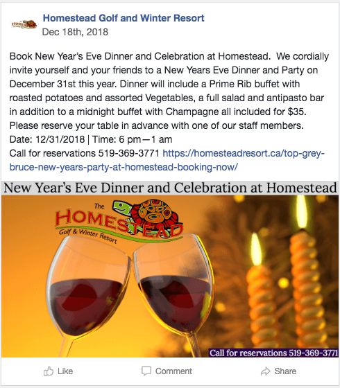 holiday meal facebook post 2