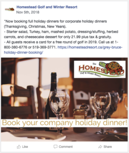 holiday meal facebook post 1