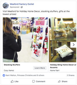 retail facebook post