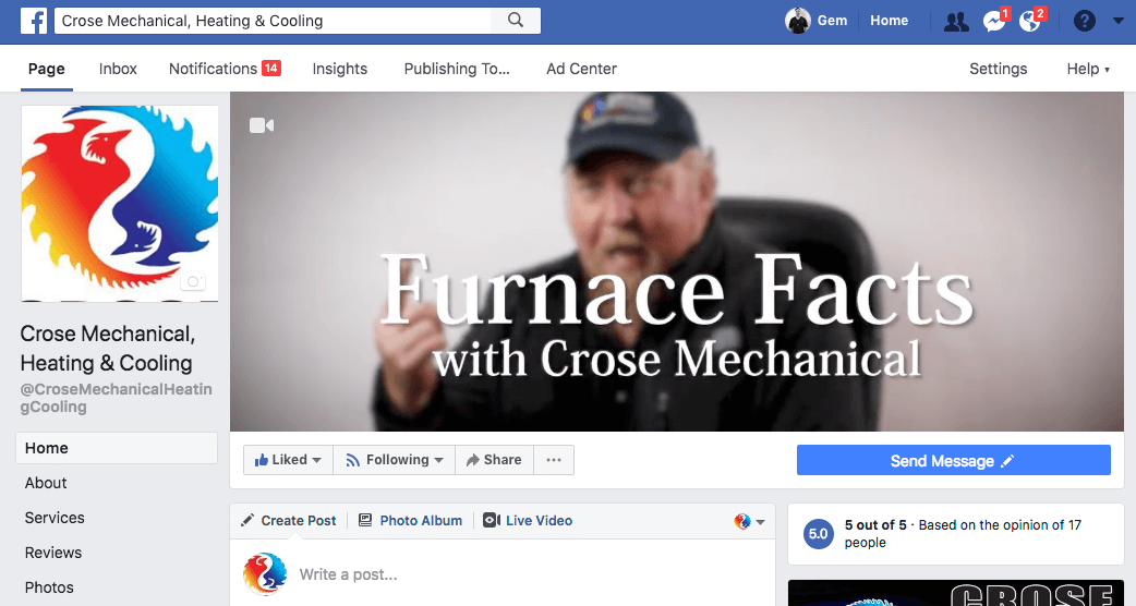 video facebook header