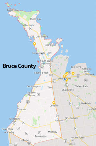 bruce county map