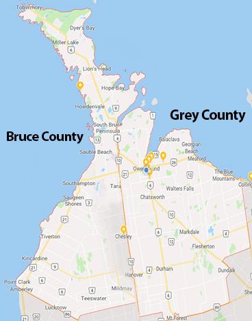 GREY BRUCE MAP