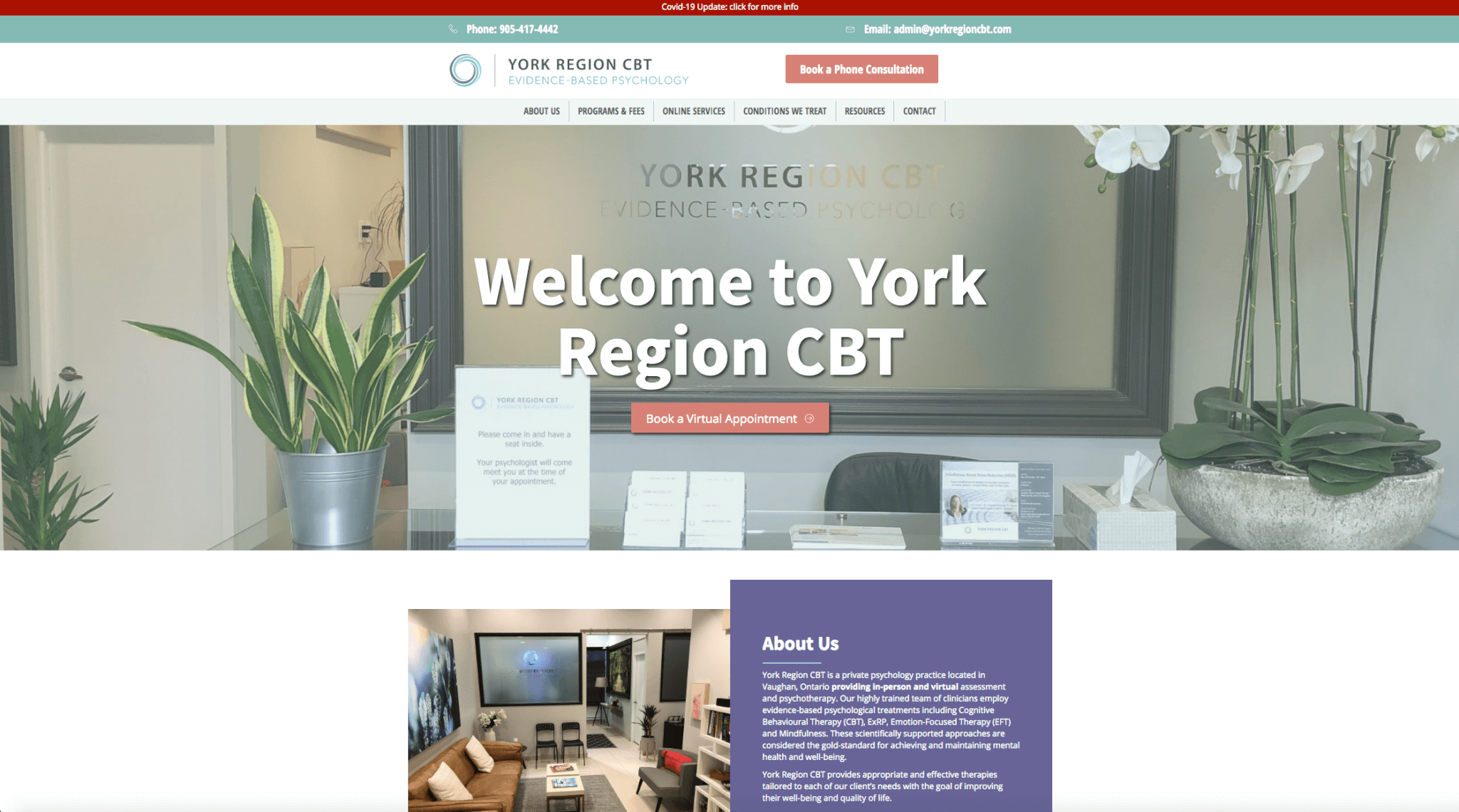YORK REGION CBT- Therapy-web design