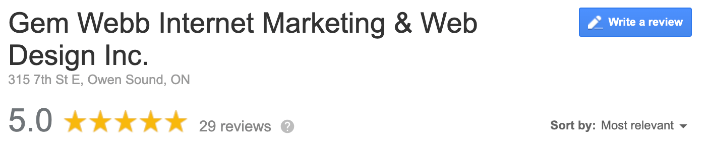 GEM WEBB website review testimonial