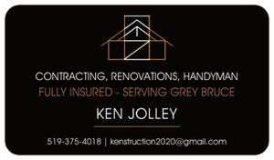 greybruce construction business card