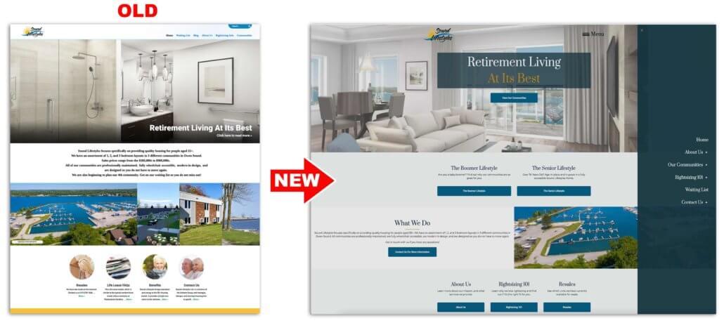 retirement web design
