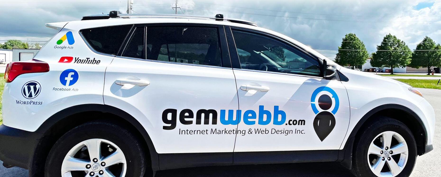 marketing agency car wrap