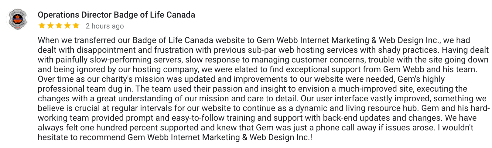 not for profit WEBSITE DEVELOPMENT review
